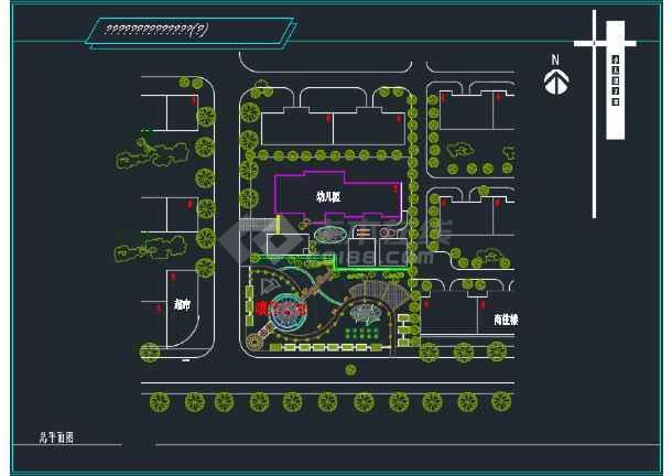 某地广场幼儿园方案设计图(含效果图)