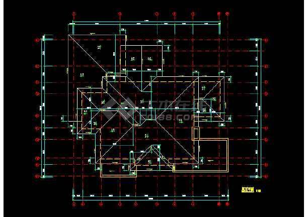 一套实用的别墅建筑结构图(含设计说明)-图2