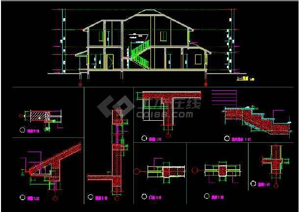一套实用的别墅建筑结构图(含设计说明)-图3