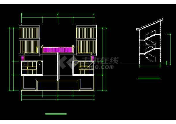 一套比较详细的别墅建筑结构图纸(含实景照片)-图3
