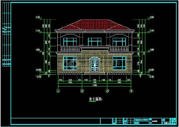 14米x12米二层钢结构别墅设计图纸