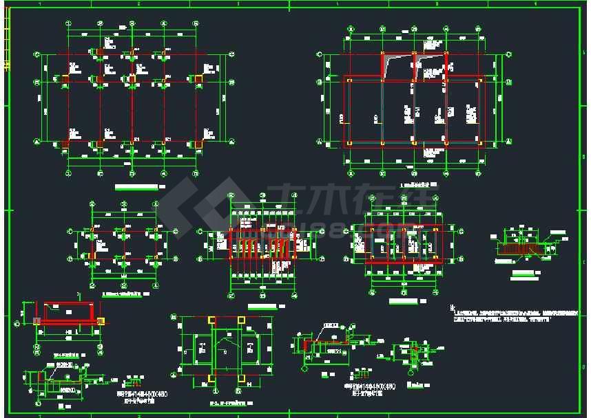 某地小型化工厂变配电室图纸v图纸电脑图纸cad结构发给信好友微图片