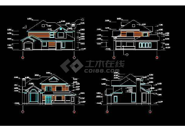某地精美二层独栋别墅建筑结构图纸(共10张)-图2