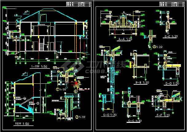 一套实用的建筑结构图纸(共8张)-图1