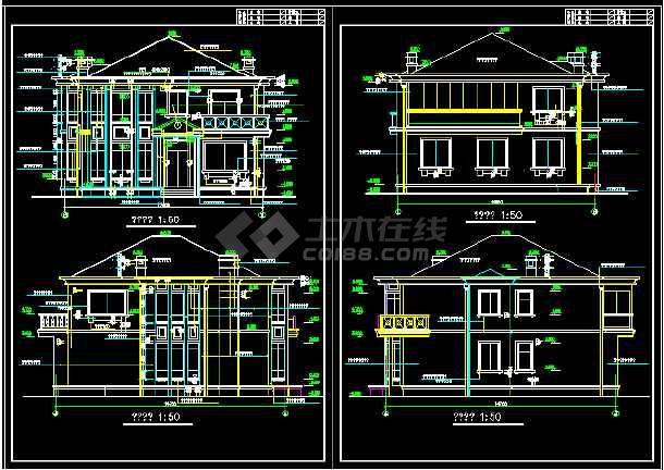 一套实用的建筑结构图纸(共8张)-图2