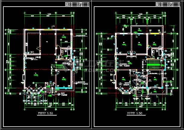 一套实用的建筑结构图纸(共8张)-图3