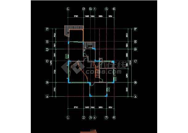 一套经典三层别墅建筑结构图纸(共8张)-图2