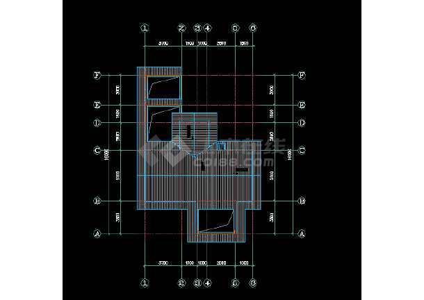 一套经典三层别墅建筑结构图纸(共8张)-图3