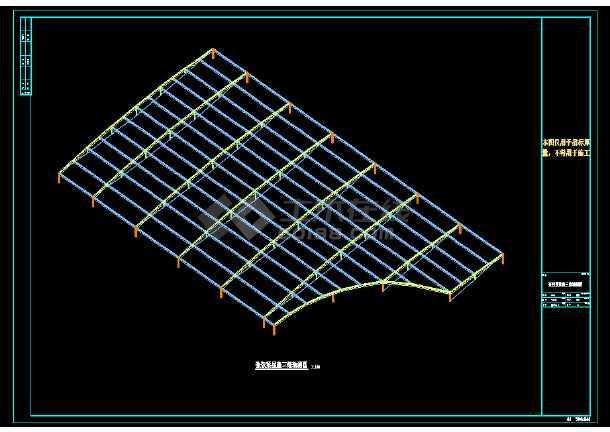 [山西]张弦梁钢结构温泉屋盖结构施工图-图1