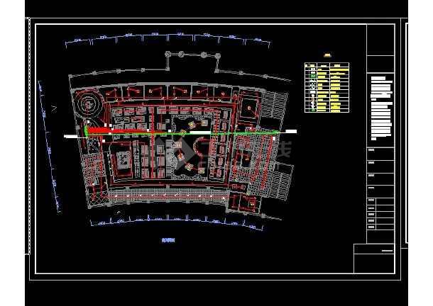 某地区画法星巴克咖啡厅装修设计cad施工图cad山寨杆塔图片