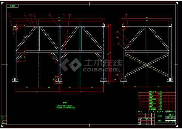 某经典实用100吨料仓cad设计图