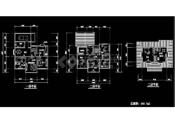 某地简单的小型二层别墅建筑结构图纸-图1