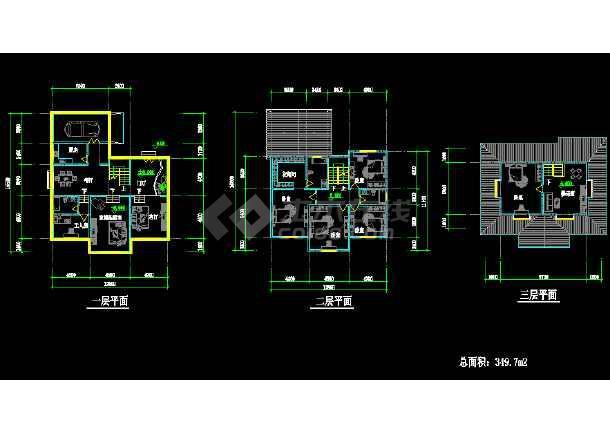 某地简单的小型二层别墅建筑结构图纸-图2
