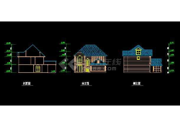 某地简单的小型二层别墅建筑结构图纸-图3