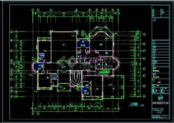 某地多层豪华型别墅建筑给排水设计CAD施工图(含设计说明)-图1