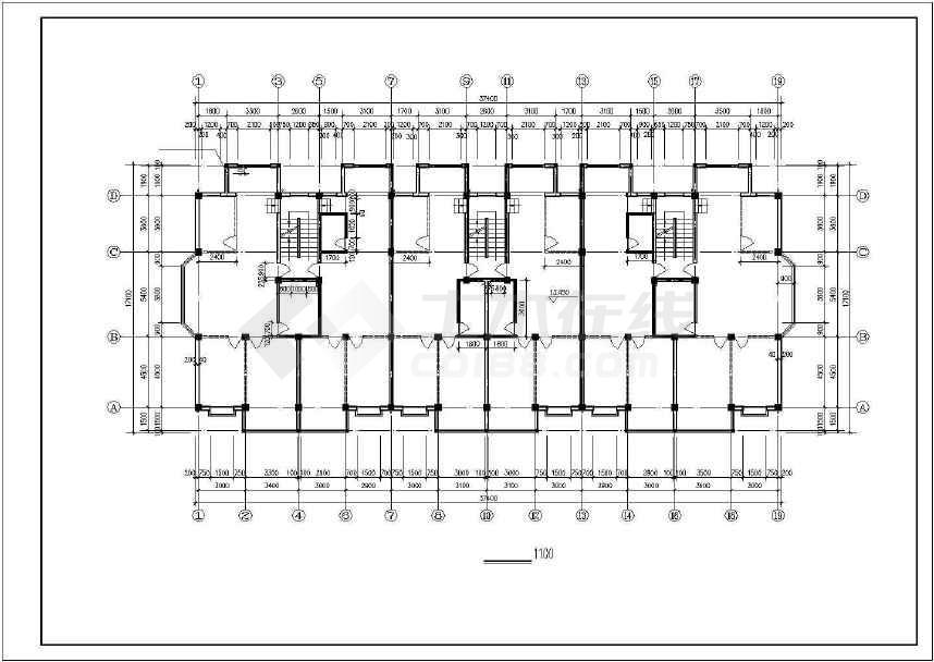 某地大型五层住宅建筑施工图(标注详细)