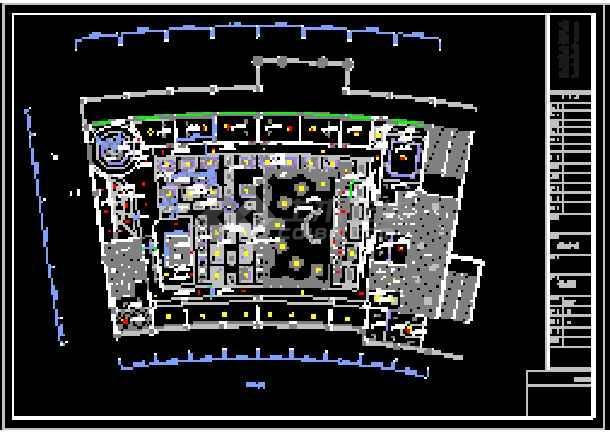 山寨星巴克咖啡厅装修设计cad平立面图win8打开cad有网页图片