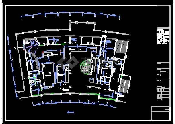 山寨星巴克咖啡厅装修设计cad平立面图10win对cad高吗要求的图片