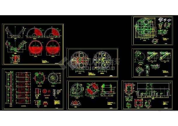6500t料仓结构cad施工设计图