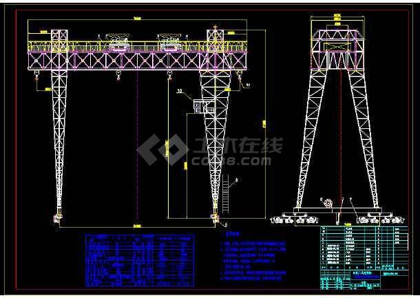 船厂50加50t-5545经典花架龙门吊设计图工厂总平面设计原则图片