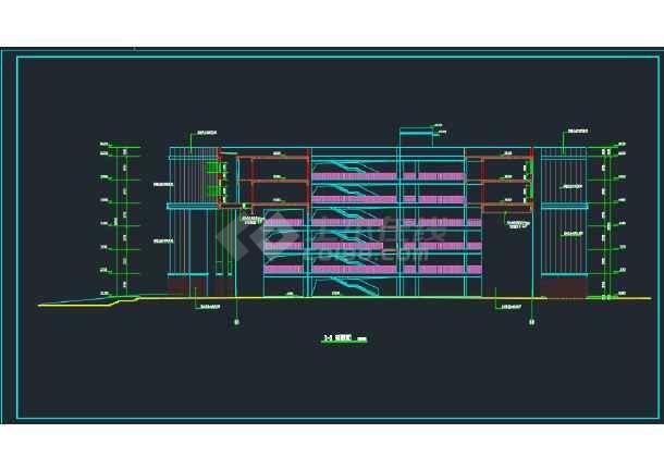 某职业技术学院建筑CAD施工图纸(含设计说明)-图1
