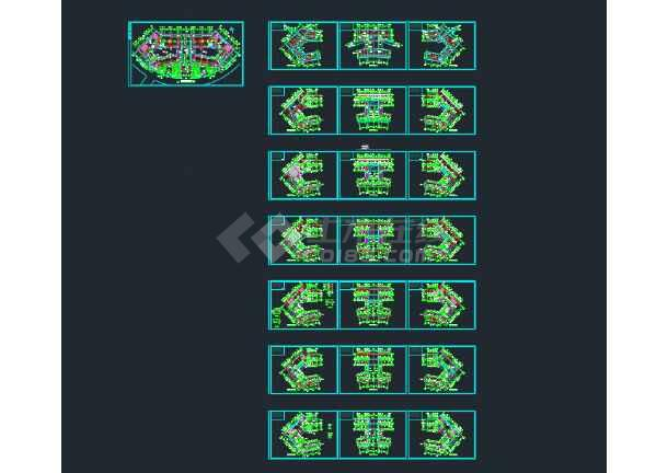 某职业技术学院建筑CAD施工图纸(含设计说明)-图3