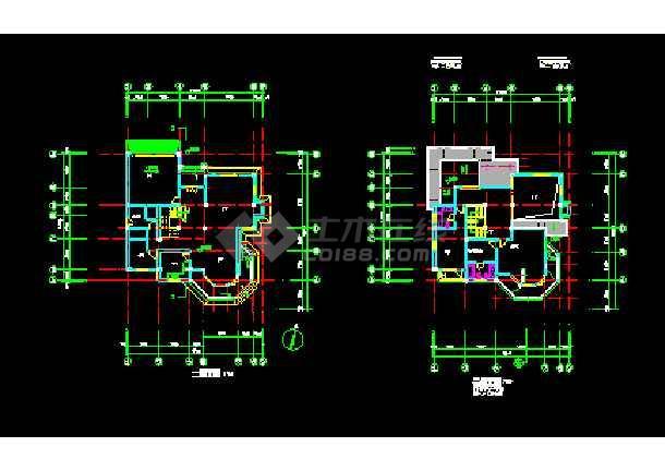 某山庄别墅建筑CAD施工设计平面图纸-图2