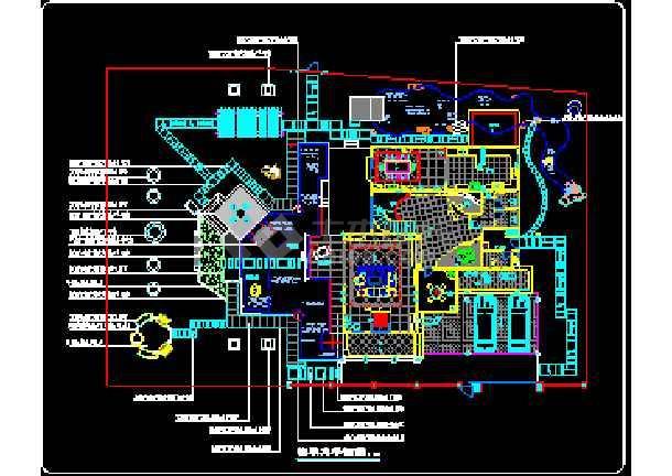 一套完整的别墅景观建筑CAD设计施工图纸-图2