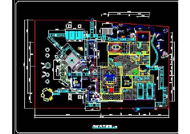 一套完整的别墅景观建筑CAD设计施工图纸-图3