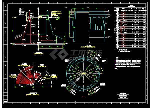 120米混凝土烟囱结构施工设计图图片