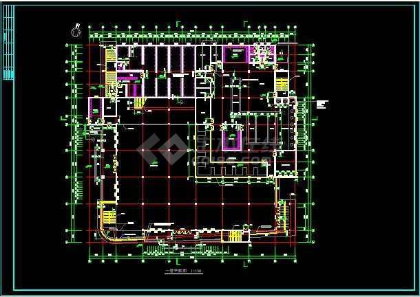知名学校简约食堂全套建筑银河娱乐官网施工图(带效果图)-图1