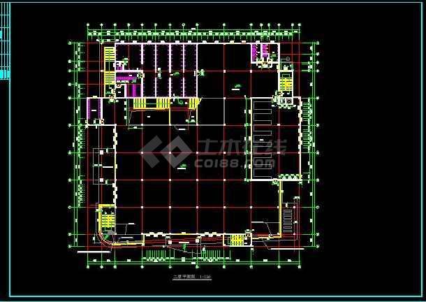 知名学校简约食堂全套建筑银河娱乐官网施工图(带效果图)-图2