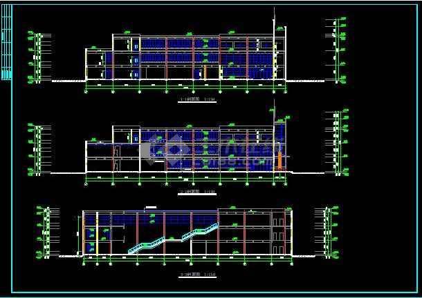 知名学校简约食堂全套建筑银河娱乐官网施工图(带效果图)-图3