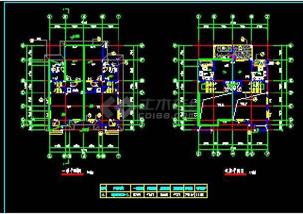 某小区高档双拼别墅建筑CAD设计施工图纸-图2