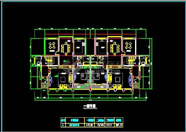 某小区高档双拼别墅建筑CAD设计施工图纸-图3