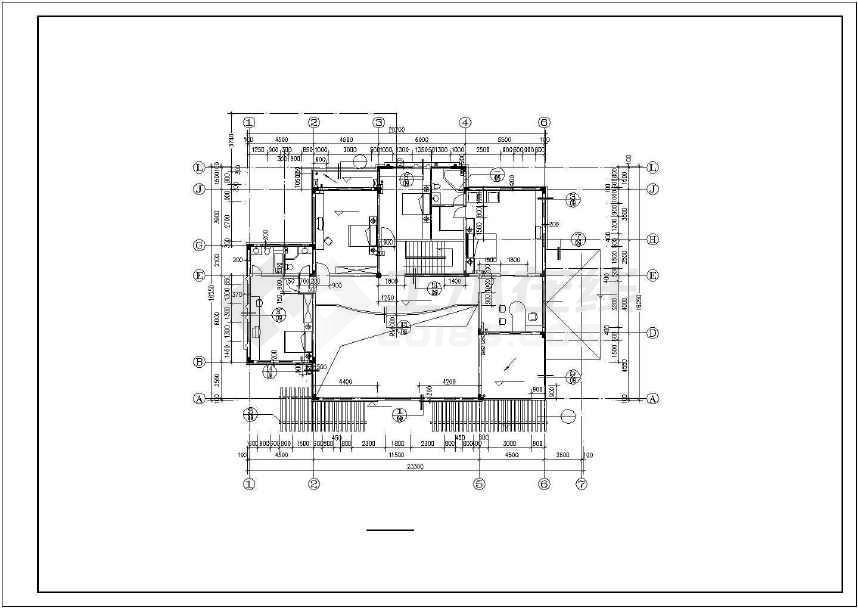 一套2层豪华别墅建筑施工图纸(标注详细)