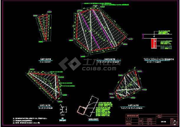 7度区抗震展览馆竣工结构施工图(钢结构幕墙骨架) 图片2