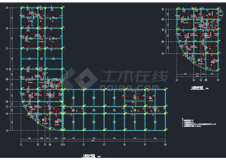 某8层框架办公楼结构设计图(共24张)