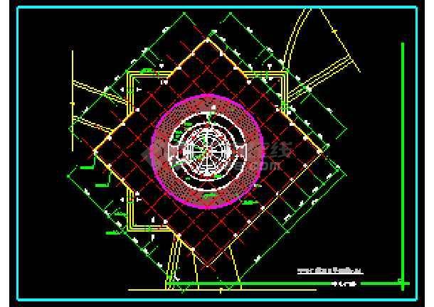 某地雕塑、休闲、城市广场CAD建筑施工图-图1