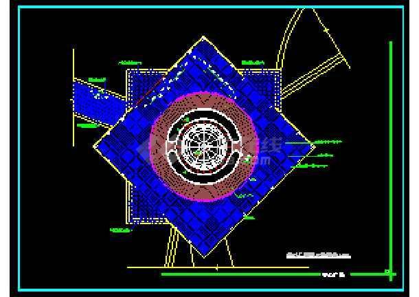某地雕塑、休闲、城市广场CAD建筑施工图-图2