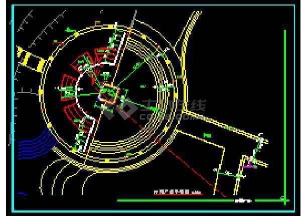 某地雕塑、休闲、城市广场CAD建筑施工图-图3