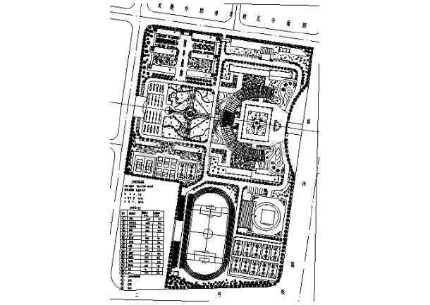 2018最新整理40套大学校园规划总平面图CAD方案图纸-图1