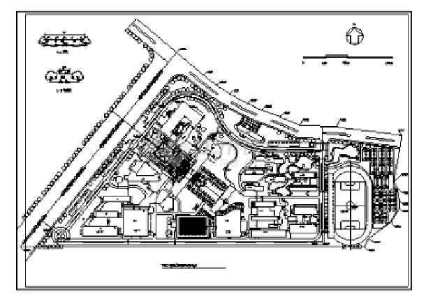 2018最新整理40套大学校园规划总平面图CAD方案图纸-图3
