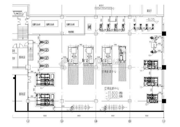 系统办公综合楼平面排水施工图(含通风平面,冷却水商业图,锅炉房暖通联设计电六合无绝对图片