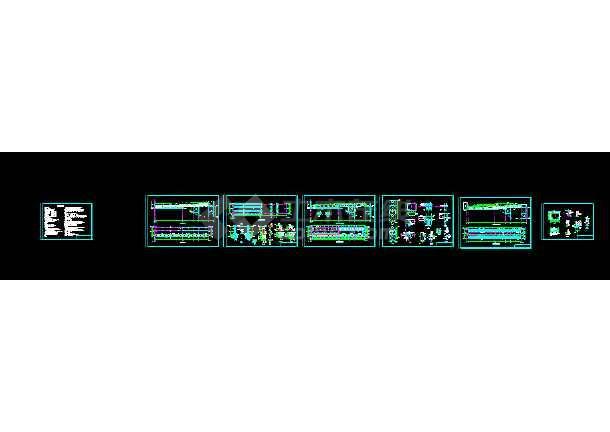62米栈桥皮带廊结构cad设计图