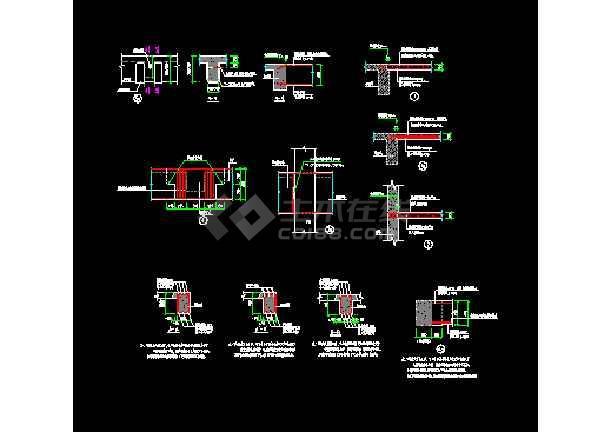 某工程加层改造结构cad施工设计图 -图3