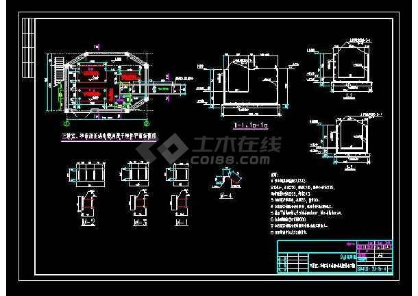 某三操室、图纸冷床站液压cad设计图8.5一金包结构口片画法图片