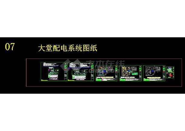 7天连锁酒店标准电气设计cad施工图-图2