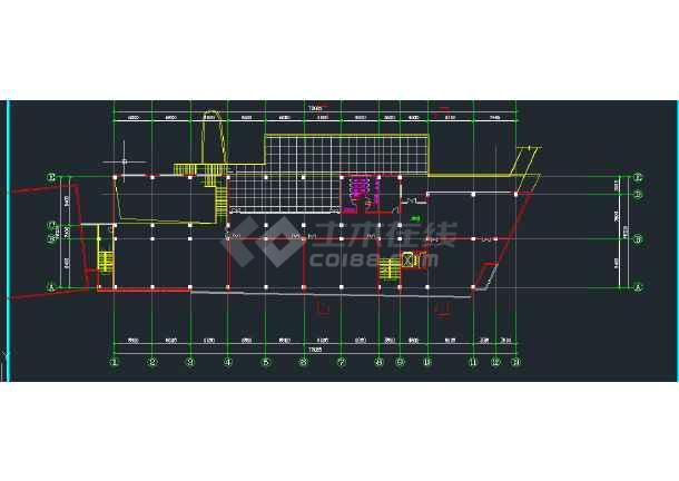 四川美术学院雕塑系教学楼建筑设计CAD施工图-图3