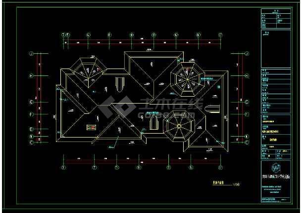 某地三层精品别墅建筑给排水设计cad施工图-图2